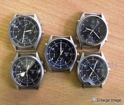 5 x Seiko Pilots Chronograph Watches