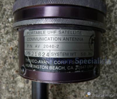 Used Land Rovers >> Trivec-Avant AV-2040-2 Portable Foldable , UHF Satellite Communication Antenna , #68273 - MOD ...